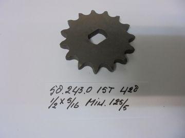 58.243.0 tandwiel voor ketting 15T Minarelli 125/5