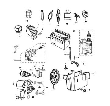 Peugeot Ludix Pro Electrical Parts
