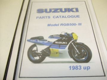 Partsbook Suzuki RGB500 1983 model with the pictures.