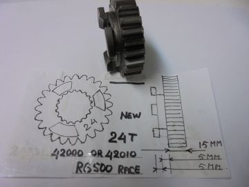 Gear gearbox 24th Suz.RG500 racing '77 up