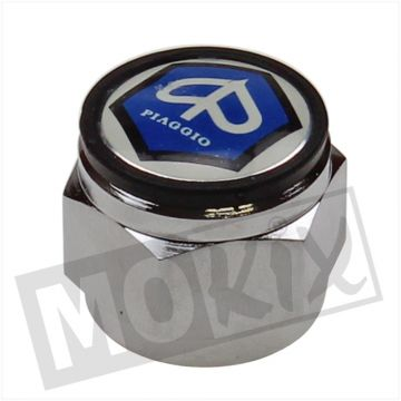 STEERING NUT VESPA CIAO/CITTA (WITH LOGO)