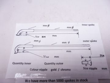 Spokes,more than 5000 in stock make your choice >front or rear
