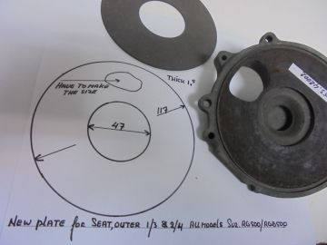 12453-42030 & 12454-42000 Plate insert seat outer Suz.RG & RGB