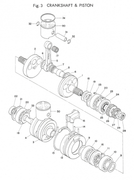Yamaha TD2 Crankshaft - Piston