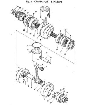 Yamaha TR2 Crankshaft & Piston